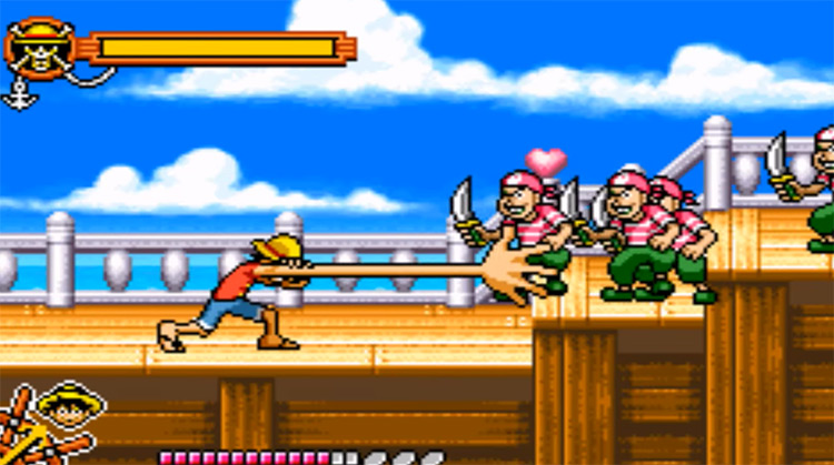 One Piece Gameboy Advance 2005 title - Game Screenshot