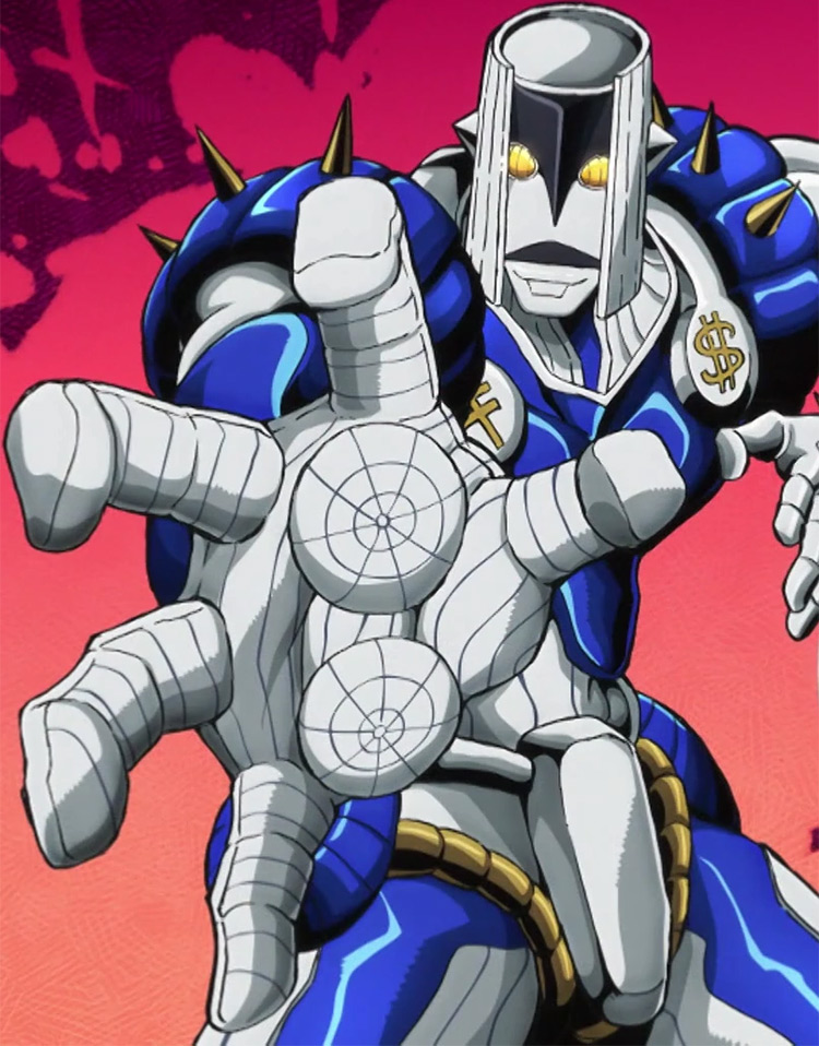 The Hand Stand in JoJo anime screenshot