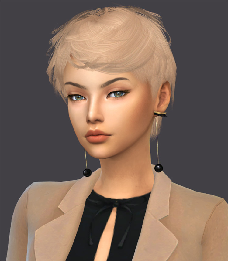 Julian Hair - Very Short Blonde Hairdo CC, The Sims 4