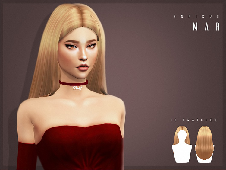 Mar Hairstyle - TS4 CC blonde