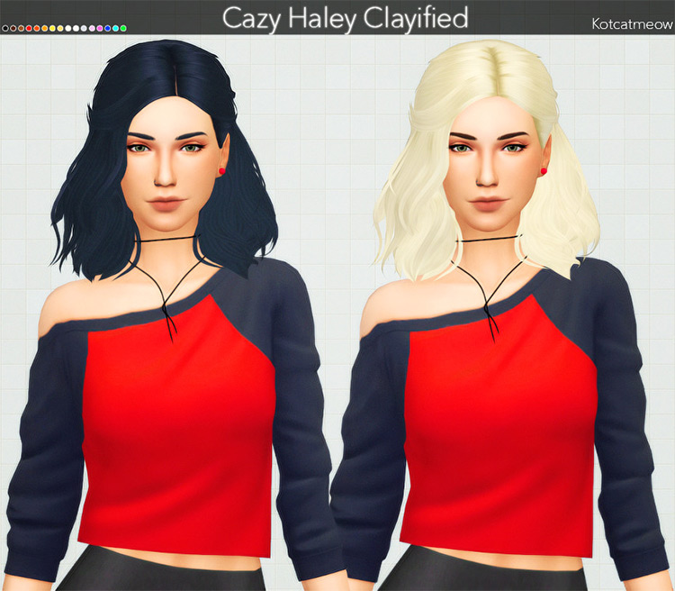 Haley Hair Clayified Sims4 CC