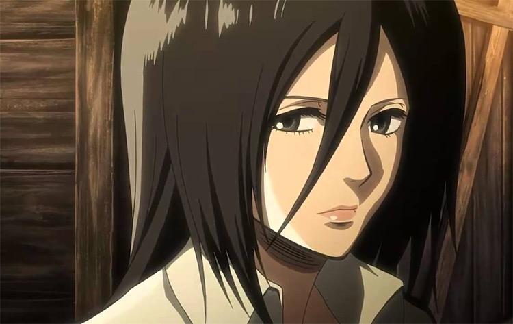 Mikasa Ackerman Attack on Titan anime screenshot