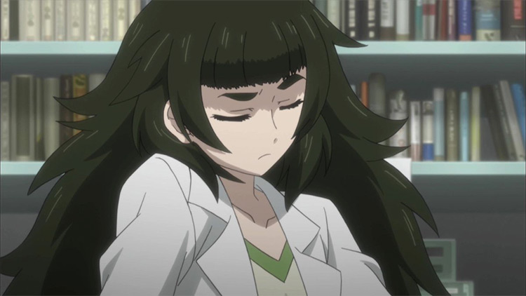 Maho Hiyajo from SteinsGate 0 screenshot