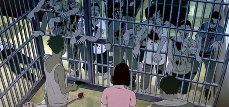 Seoul Station - zombie hoard anime screenshot