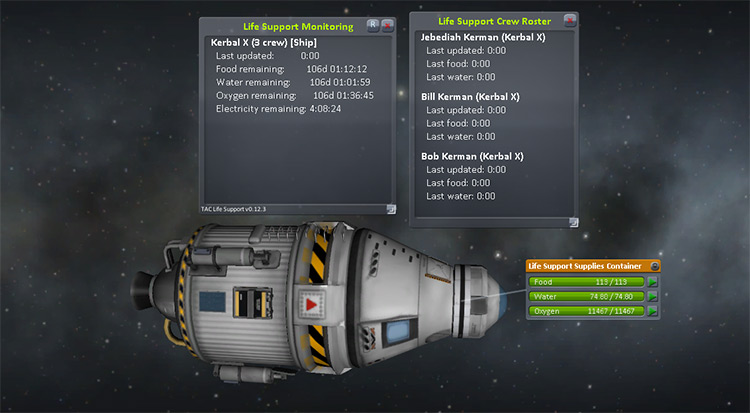 TAC Life Support Kerbal Space Program mod