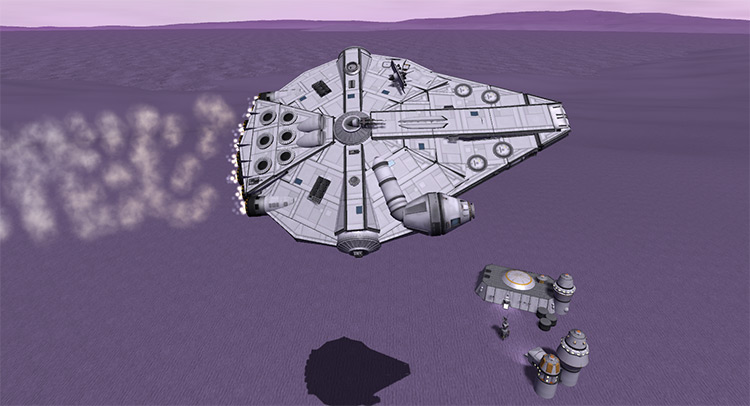 Millennium Falcon Kerbal Space Program mod