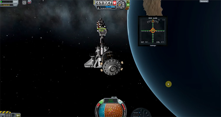 Docking Port Alignment Indicator Kerbal Space Program mod
