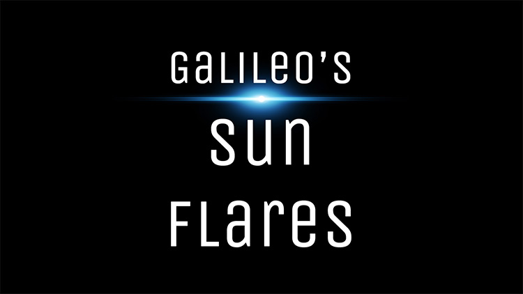 Galileo's Sun Flares mod for Kerbal Space Program