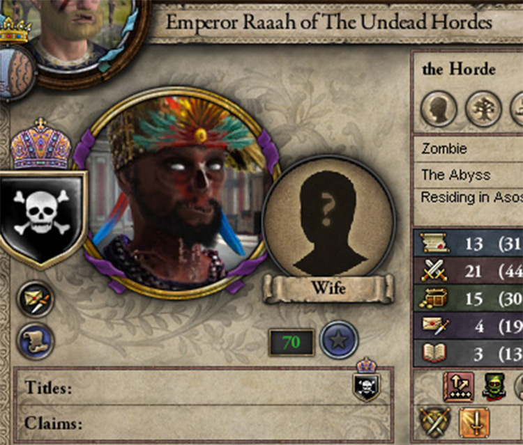 Crusader Kings Z mod screenshot