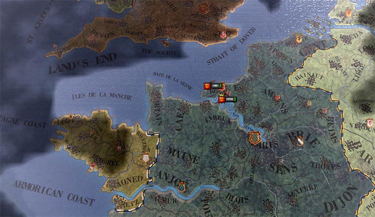 In heavens Graphics overhaul Crusader Kings 2 mod