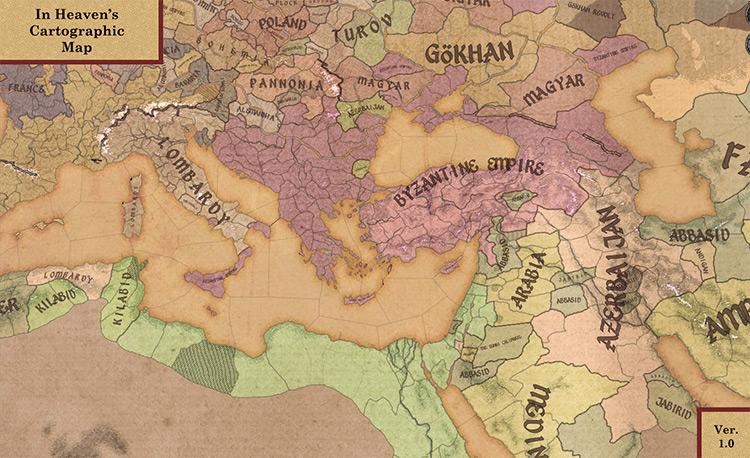In heavens Cartographic map Crusader Kings 2 mod screenshot