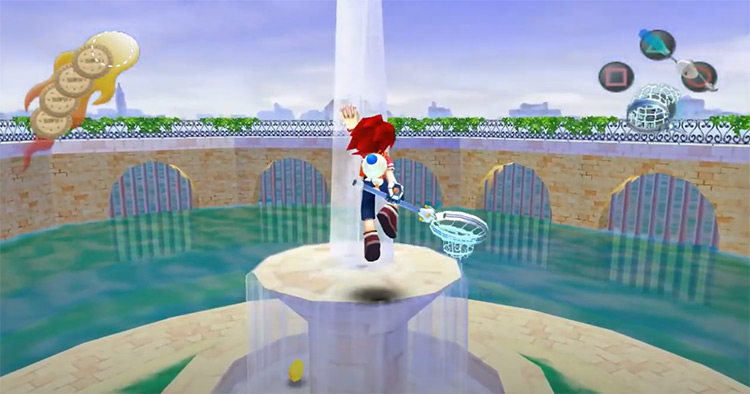 Ape Escape 2 (2003) gameplay