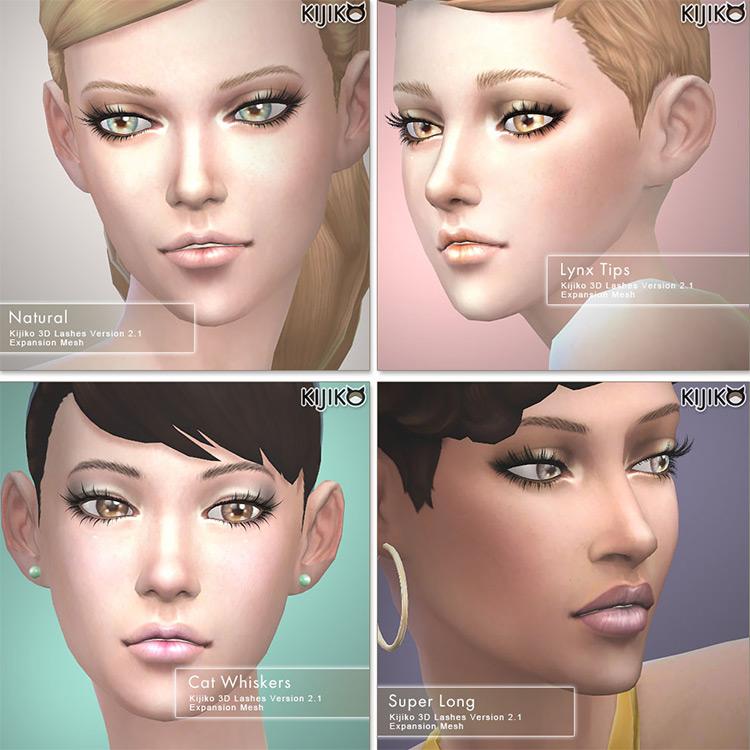Kijiko massive Eyelash pack - Sample preview for The Sims 4
