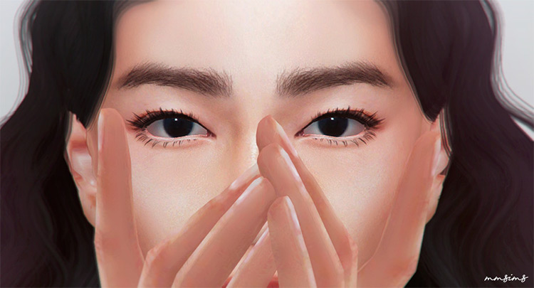 MMsims Eyelashes for Sims4 - CC pack v3