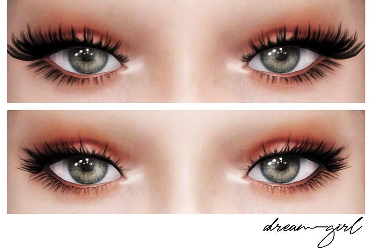 Dream Girl comparison Eyelashes CC - Dark and gorgeous