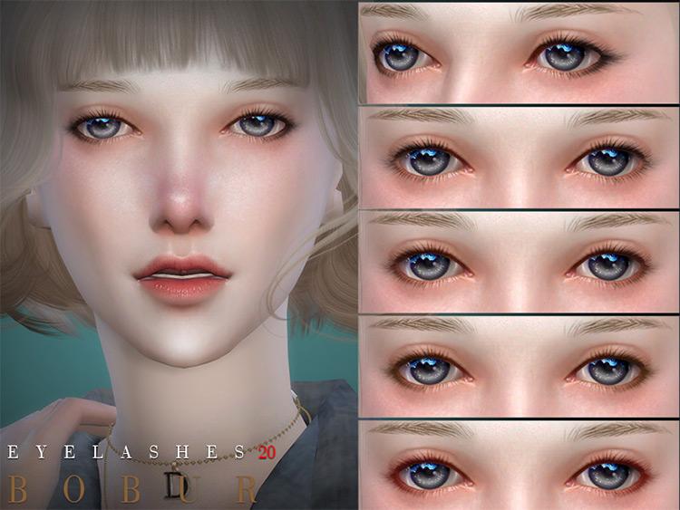 Bobur Eyelashes20 pack - thin simple eyelashes