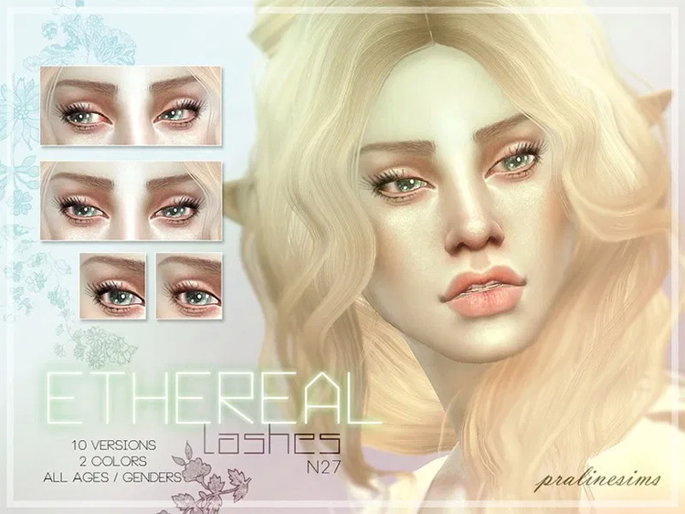 Ethereal Lashes Sims4 CC preview
