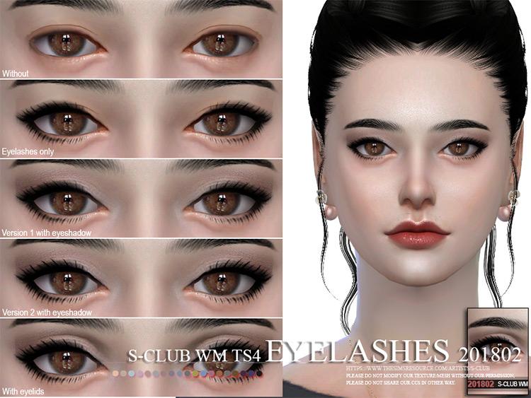 WM simple Eyelashes asian-syle Sims 4 CC