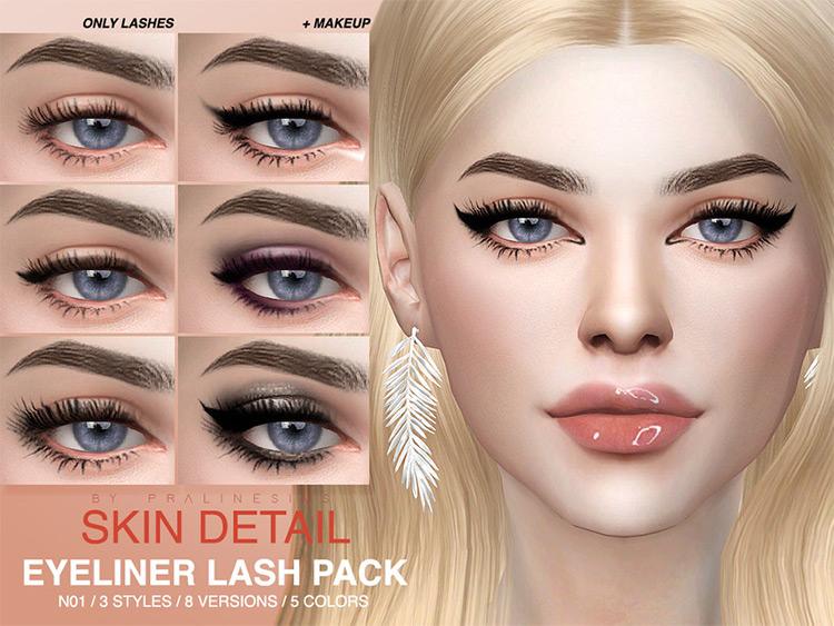 Skin Detail + Lash pack TS4 CC