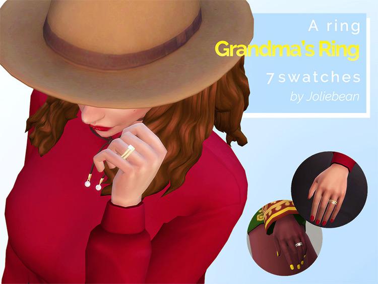 Grandmas Ring Sims4 CC