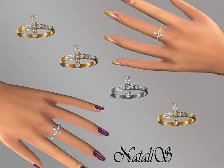 Cross ring Sims4 CC