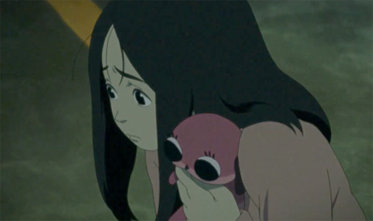 Sad girl in Paranoia Agent Anime