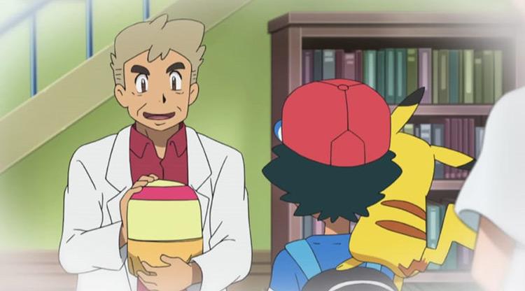 Professor Oak in the newer Pokémon Anime