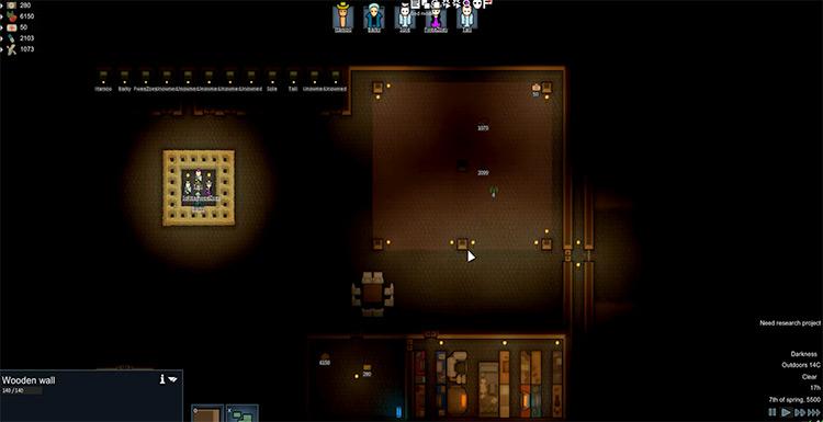 The Darkest Rimworld Mod gameplay screenshot