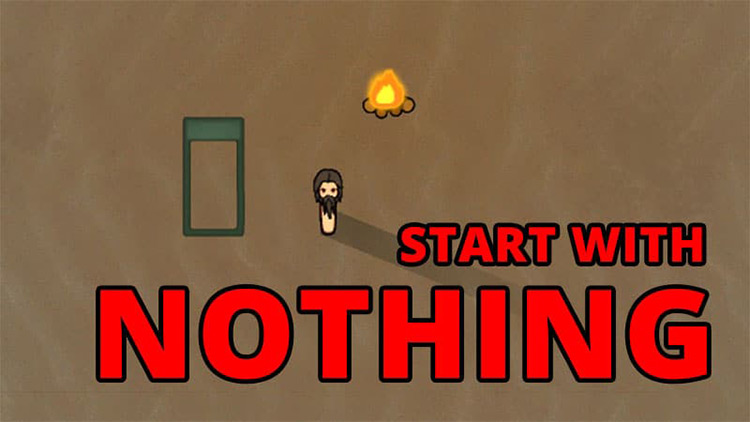 Start With Nothing title Rimworld Mod