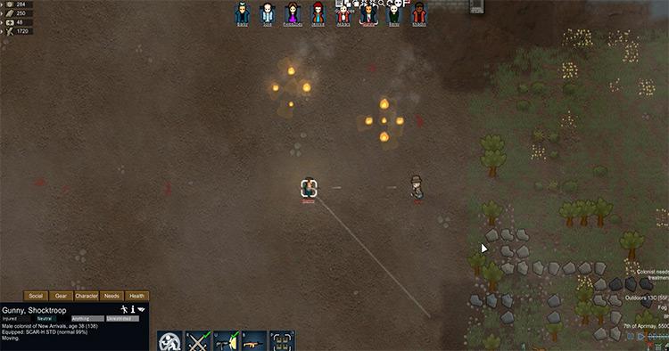 RunAndGun gameplay Rimworld Mod