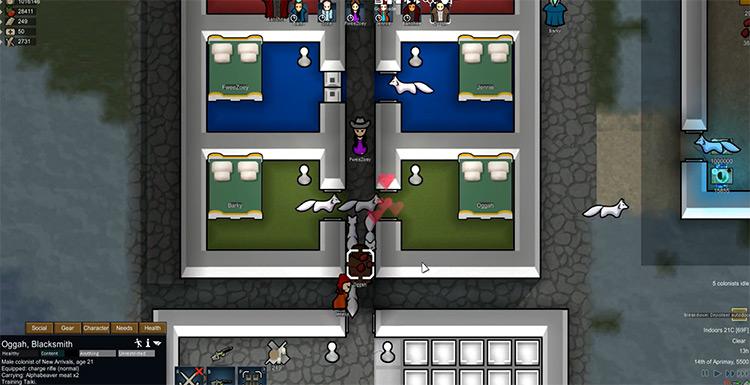 Rimworld gameplay screenshot animal logic