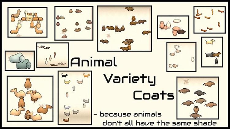 Animal Variety Coats Rimworld Mod
