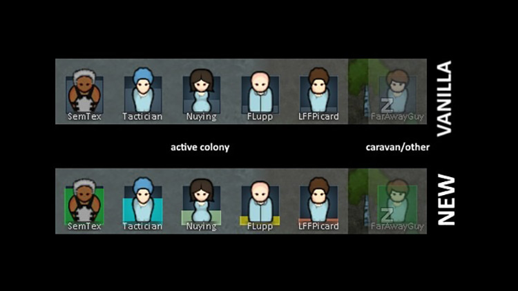 Color Coded Mood Bar Rimworld Mod
