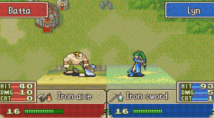 Fire Emblem: The Blazing Blade GameBoy Advance Gameplay Screenshot