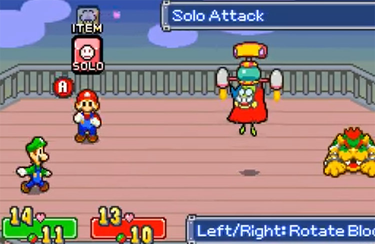 Gameplay of Mario & Luigi: Superstar Saga