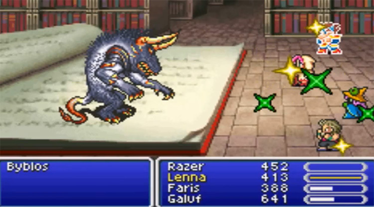 Gameplay of Final Fantasy V Advance Screenshot