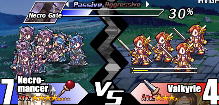 Gameplay of Yggdra's Union: We'll Never Fight Alone