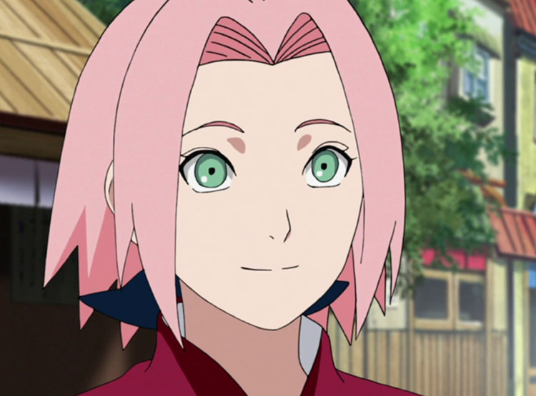 Screenshot of Sakura in Naruto anime