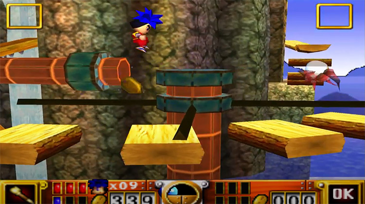 Goemon's Great Adventure gameplay