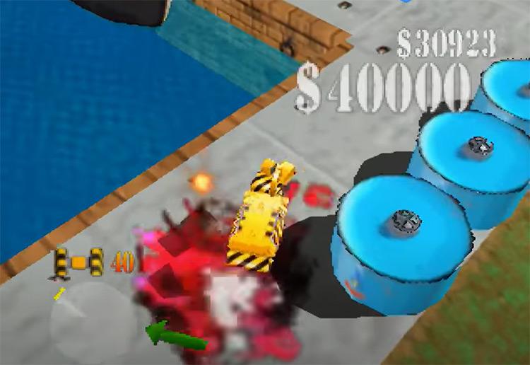 Blast Corps gameplay