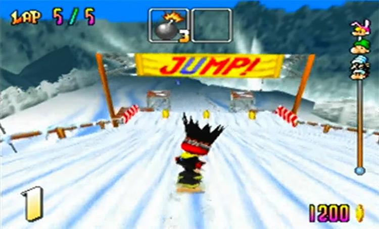 Snowboard Kids 1998 gameplay