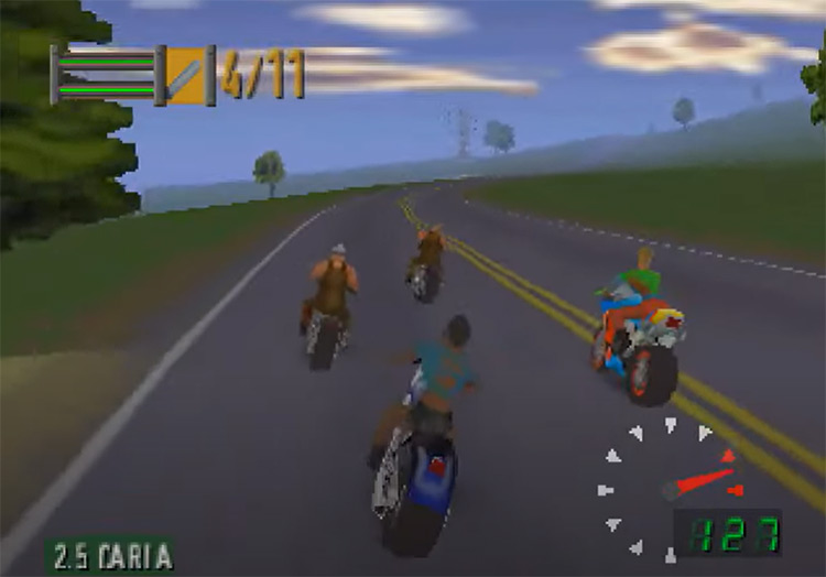 Road Rash 64 game screenshot