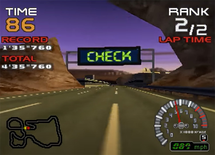 Ridge Racer 64 gameplay