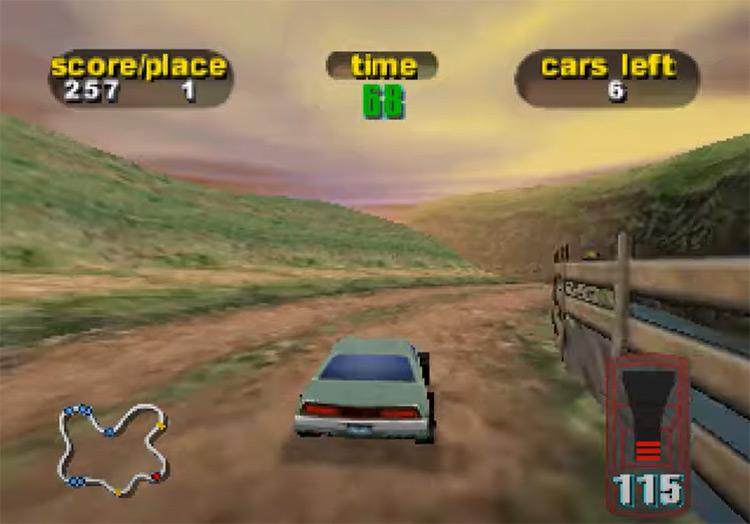 Destruction Derby 64 screenshot
