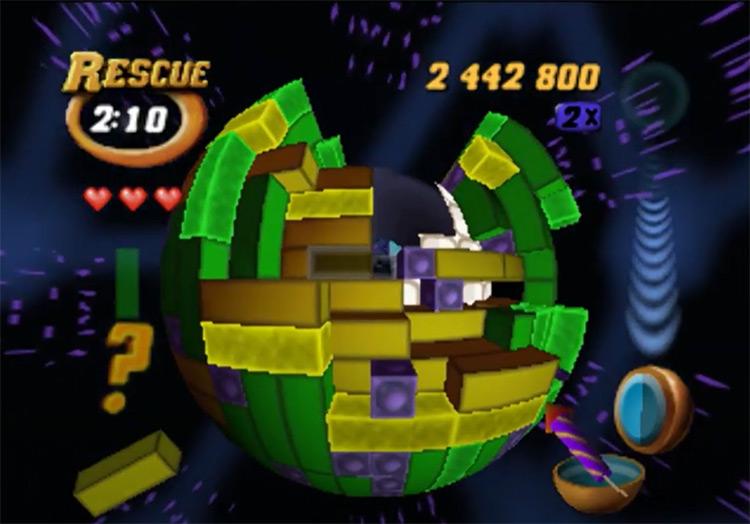 Tetrisphere game screenshot