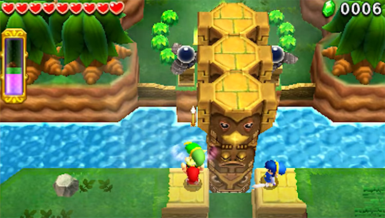 The Legend of Zelda: Triforce Heroes gameplay