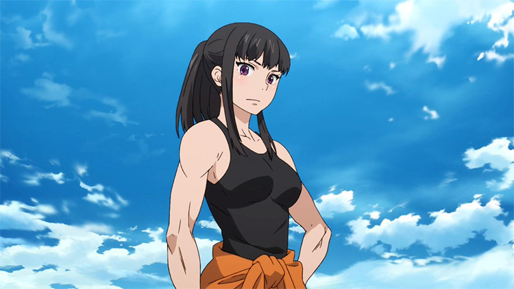 Maki Oze Fire Force anime screenshot