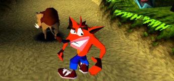 Crash Bandicoot looking funny at camera