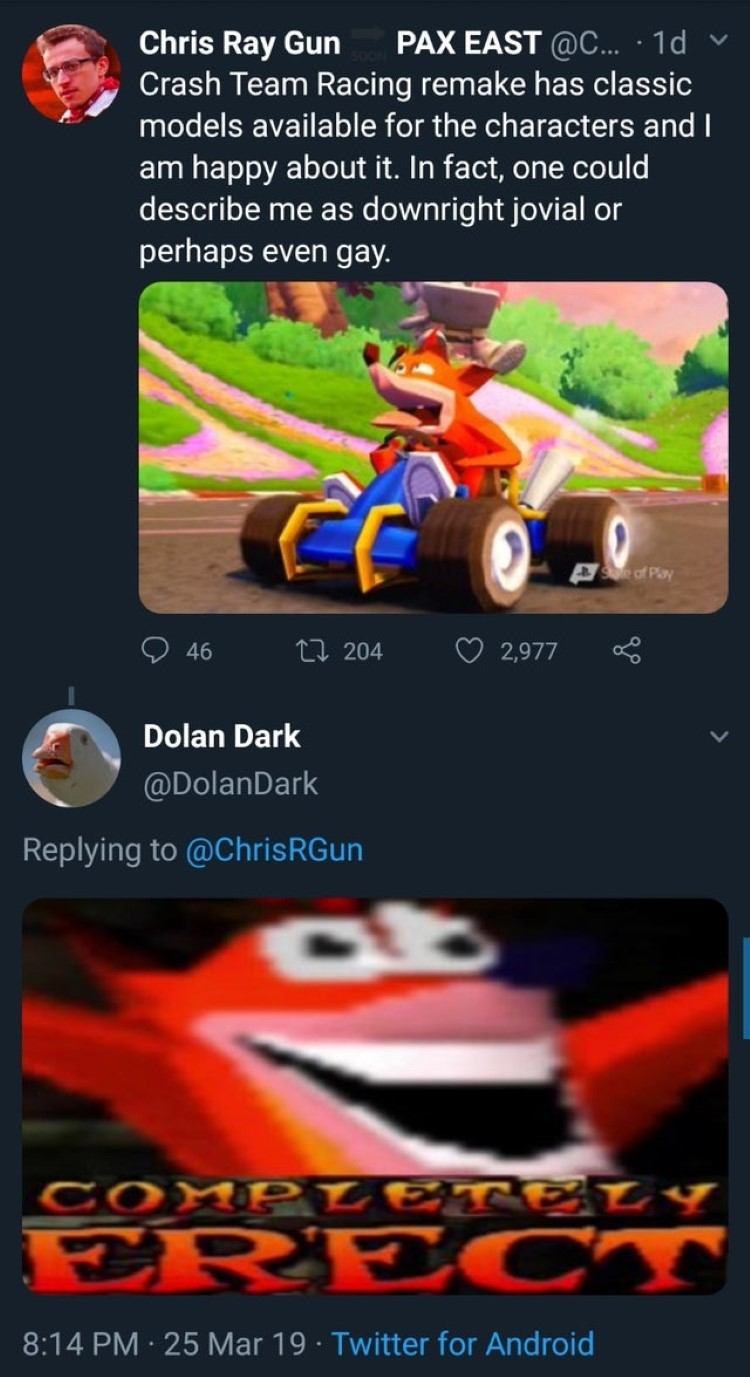 Crash Team Racing remake exciting meme