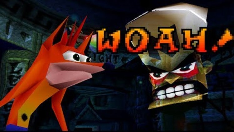 Woah Crash Bandicoot face 3D meme